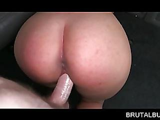 Cutie Banged Doggy Style Gets Facialized