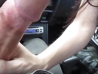 Hot Blowjob In The Car