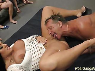 Busty Ashley Cum In Real Gangbang