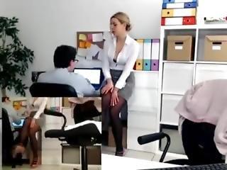 chica de cámara, sombrero, masturbación, oficina, publico, uniforma, camara del internet