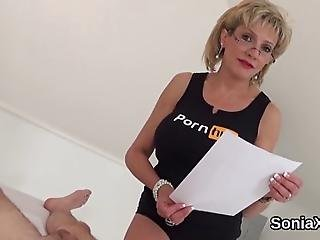 Huge Titted Bisexual Spouse Lady Sonia Massages Her Large Jugs And Fingers Spread Twat In Lingerie