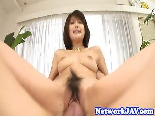 Cock Riding Oriental Babe Fully Facialized
