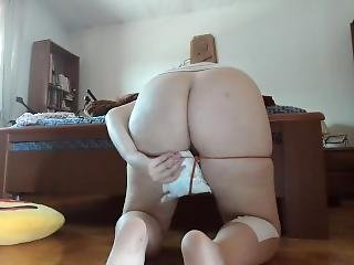 Diaper Fetish Pee Session And Whipping On Pussy
