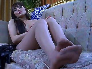 May Loving Her Nylon Feet