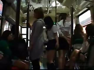 Schoolgirl Rapped On The Bus Getting Her Ass Tits And Pussy