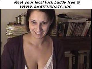 Amateur Webcam Brunette Teen Babe Strips Down Webcam Homemade