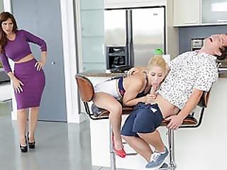 gros téton, bisexuel, blonde, milf, maman, Ados