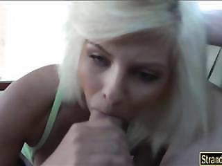 Teen Blonde Cutie Alessandra Noir Pussy Screwed In The Car