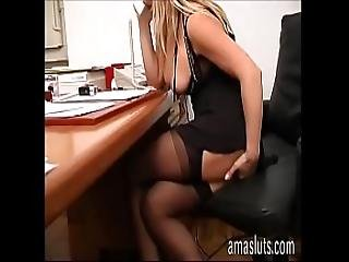 Dirty Secretary Jerks Off Her Pussy In Office Instead Of Work