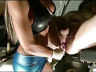 Fetisch From 18yr German Girl With Wax And Prostata Massage