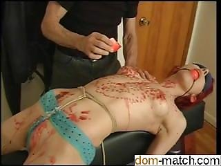 Meet Her On Dom-match.com - Small Tits Redhead Enjoys Hot Wax Over H