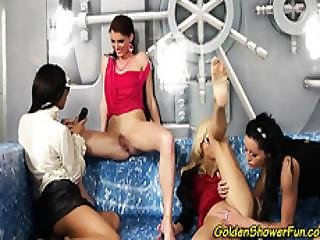 Watersports Lesbians Orgy