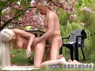 Young Girl Abused Paul Is Loving His Breakfast In The Garden With His New
