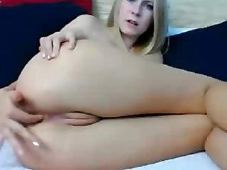 Sexy Young Blonde Fingering Pussy & Ass