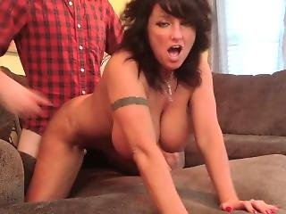 Horny Milf Caught Cheating; Fucks To Keep Sleazeball Quiet!