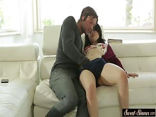 Sweet Petite Stepdaughter Sucking And Riding