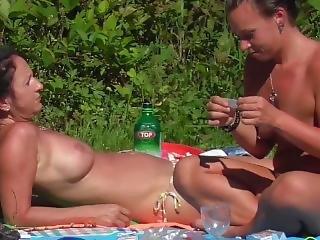 gros téton, tchèque, piscine, petits seins, solo, Ados