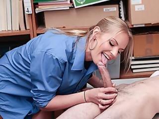 Amateur, Luder, Grosser Schwanz, Gross Titte, Blondine, Blasen, Harter Porno, Büro, Pov, Muschi