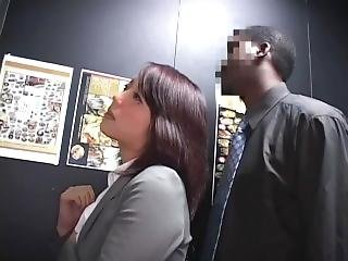 Drunk Japanese Businesswoman Loves Bbc