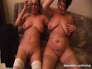 Brunette Grannies Like To Tease Pov Style