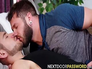 Good Looking Bearded Homosexuals Johnny Hill And Dante Colle Are Enjoying Themselves With Good Old Barebacking Session!