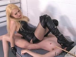 Mistress Wipping Balls Domination