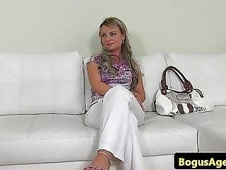 Shy Euro Pussyfucked During Casting Audition