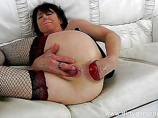 anal, anale faust, couch, fisting, massage, weiss