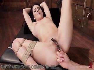 Beautiful Brunette Slave Training