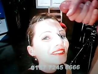 German Babe Viktoria Gets Very Huge Facial While Talking !!! (the Best)
