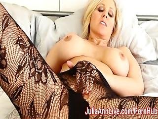 Milf Julia Ann Teases You With Lingerie %26 Helps You Cum%21