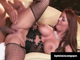 Busty Brit Sophie Dee Is Pussy Pounded Jizzed On Her Face