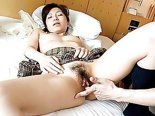 Tiny Menacing Nana Kurosaki With Large Wazoo Is Having 69 Pose At Japanese Strumpets