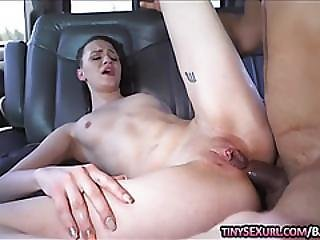 Petite Brunette Babe Alex More Ass Fucked On The Bus