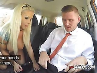 Blonde Hoe Barbie Sins Blows Hung Driving Instructor