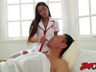 Gorgeous Latina Nurse Pounded And Sprayed With Cum