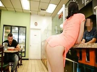 Cul, Salle De Bain, Butin, Brunette, Cul, Bite, Star Du Porno, Ados
