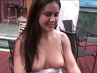 Perfect Girl Flashing At Bar