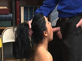 Lp Officer Gives Monica Sage A Mouthful Of His Large Rod
