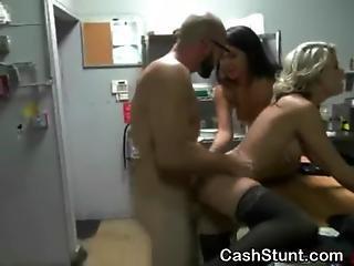 Blonde Fucked In Kitchen During Money Talks Stunt