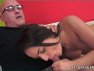 Junie Loves Taste And Feel Of Old Cock