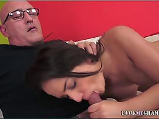 Junie Loves Taste And Feel Of Old Cock