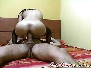 Mature Petite Latina Deep Throat Blowjob On His Big Cock