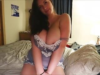 Busty Lana Kendrick Teasing Around In Bed Wearing Her Sexy Nighty Dress