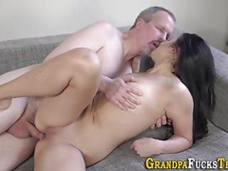 Teenager With Great Tits Sucks
