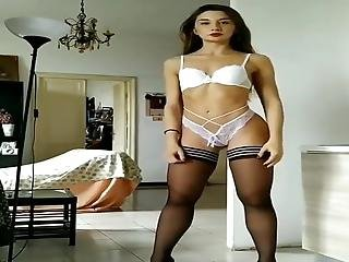 Stolen Video From Phone Of Sexy Teen In Stockings 5