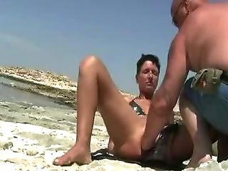 Shameless Wife Fist Fucked At The Beach