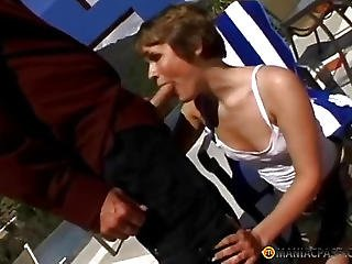 Cutie Fucked In The Street With A Man