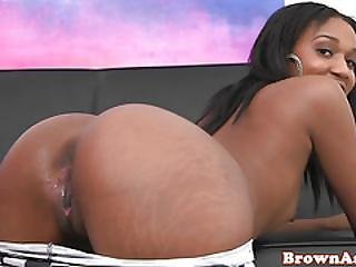 Nubian Booty Babe Doggystyled By Thick Cock