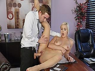Danny D Screwing Kylie Page Pussy On The Desk